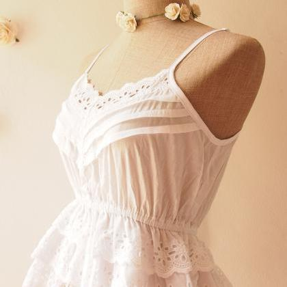 White Cami Crop Pure Cotton Boho Be..