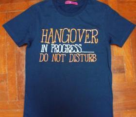 Hang Over in Progress T-Shirt (Blue)