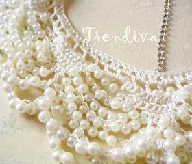 Lingering Pearl Collar Necklace Fashion Collar Necklace Jewelry Collar
