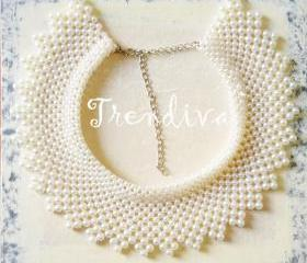 Elegant Pearl Collar Necklace Fashion Collar Necklace Jewelry Collar 2