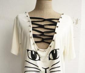 The Cat Women Cool Stud T-Shirt (White)