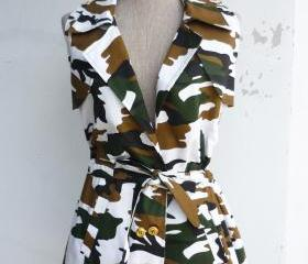 Cool Military Girl Tunic Shirt No.3 Free Size
