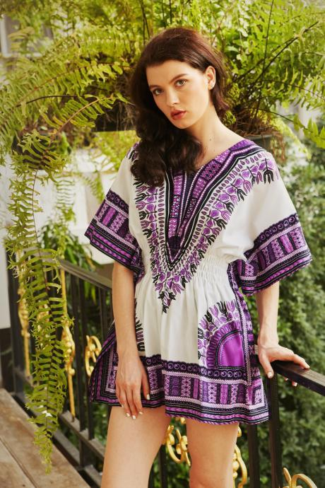 Boho Dress Bohemian Dress Hippie Dress Purple Summer Dress Coachella Dress Tribal Wonderfruit Dress Tunic FREE SHIPPING