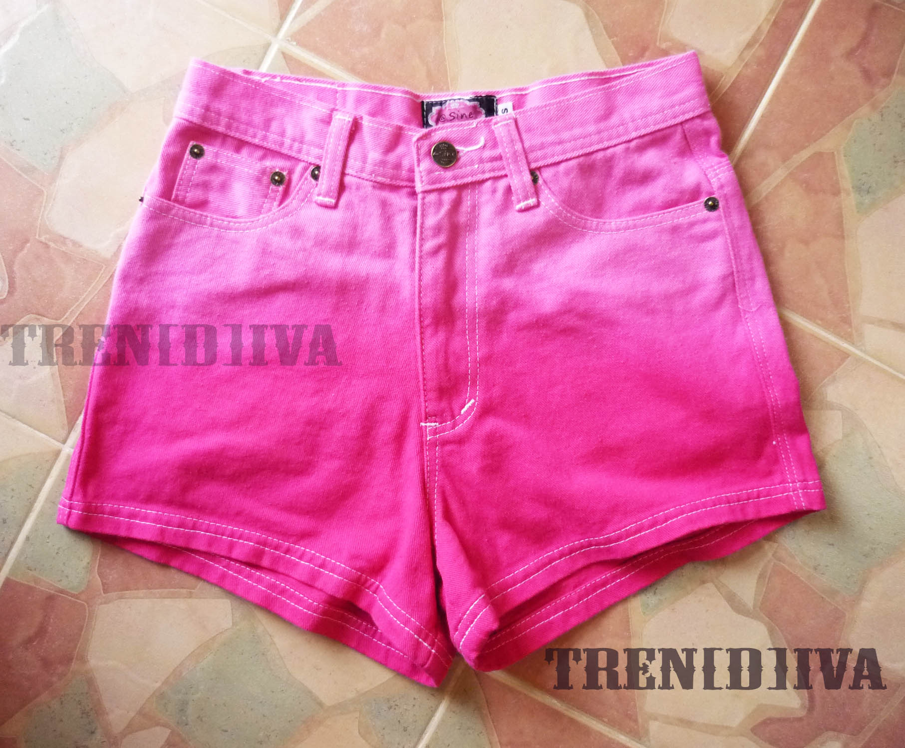 High Waisted Pink Shorts Cool Gradient Pink Shorts on Luulla